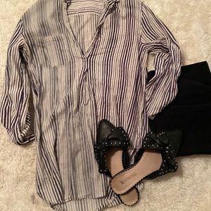 Cute beach cloth striped shirt.